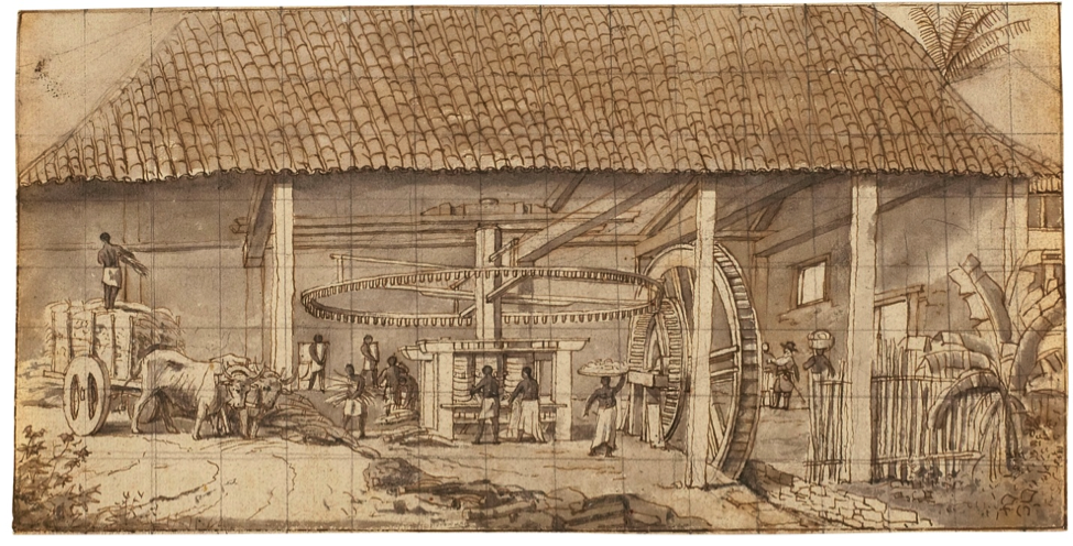 Hydro Powered Sugar Mill in Brazil, by Frans Post