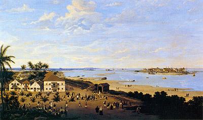 Vista da Cidade Maurícia e Recife , 1657 by Frans Post