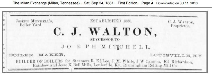Advertisement 1881