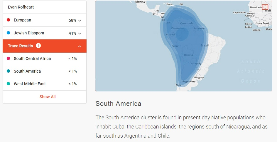 Evan's FTDNA Ancestry African & South American